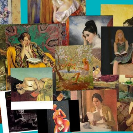 Collage de femmes qui lisent